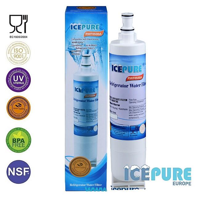 Icepure RWF500A Voor KitchenAid SBS004 Waterfilter 481281719243